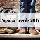 popular words 2017