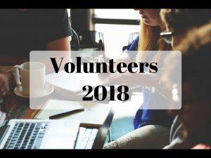 Volunteers 2018